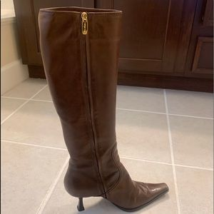 Sergio Rossi Brown Leather Boots